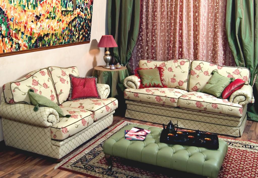 Collezioni divani classici - Divano tessuto damascato ...