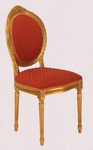 Sedia in foglia oro